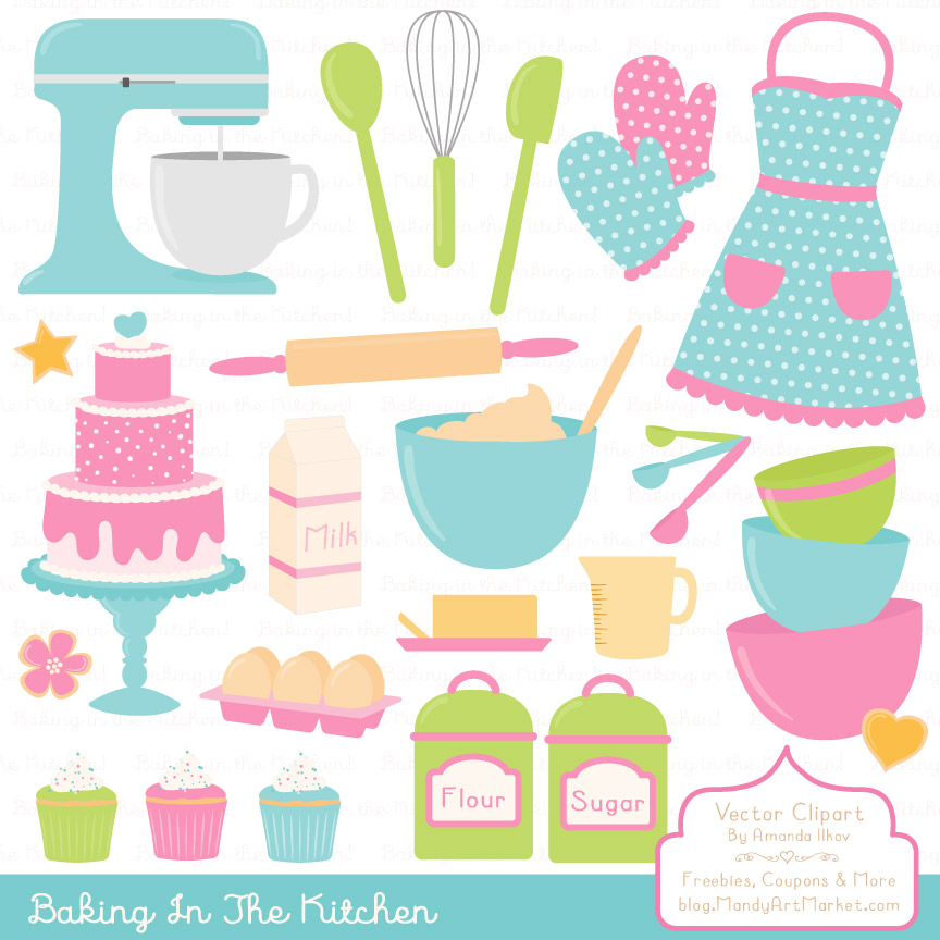 Fresh Baking in the Kitchen Graphic Illustrations By Amanda Ilkov