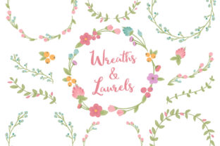 Garden Party Floral Laurals and Wreaths Graphic By Amanda Ilkov