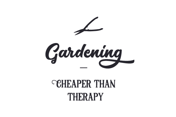 Download Free Gardening Cheaper Than Therapy Svg Cut File By Creative for Cricut Explore, Silhouette and other cutting machines.