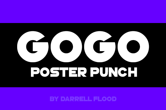 Print on Demand: GoGo Poster Punch Sans Serif Font By Dadiomouse