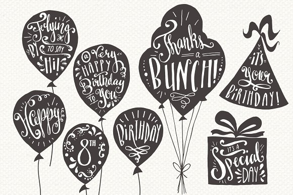 Greeting Card Overlays Graphic Illustrations By The Pen and Brush