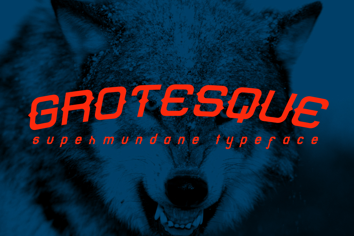 Print on Demand: Grotesque Sans Serif Font By KreasiMalam