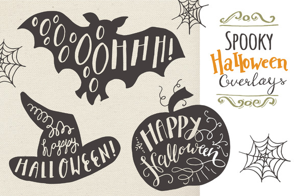 Download Free Halloween Overlays Graphic By The Pen And Brush Creative Fabrica for Cricut Explore, Silhouette and other cutting machines.