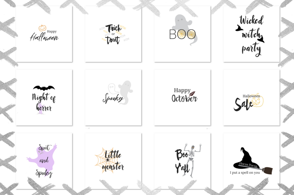 Halloween Lettering Pack Graphic Illustrations By Creative Stash - Image 2