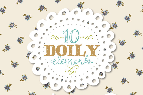 Hand Drawn Doilies Graphic Illustrations By The Pen and Brush