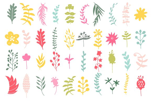 Hand Drawn Floral Set Graphic Illustrations By Favete Art - Image 2