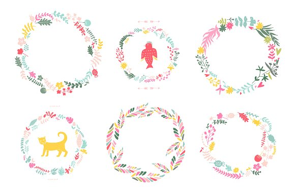 Hand Drawn Floral Set Graphic Illustrations By Favete Art - Image 3