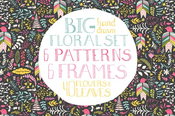 Hand Drawn Floral Set Graphic Illustrations By Favete Art