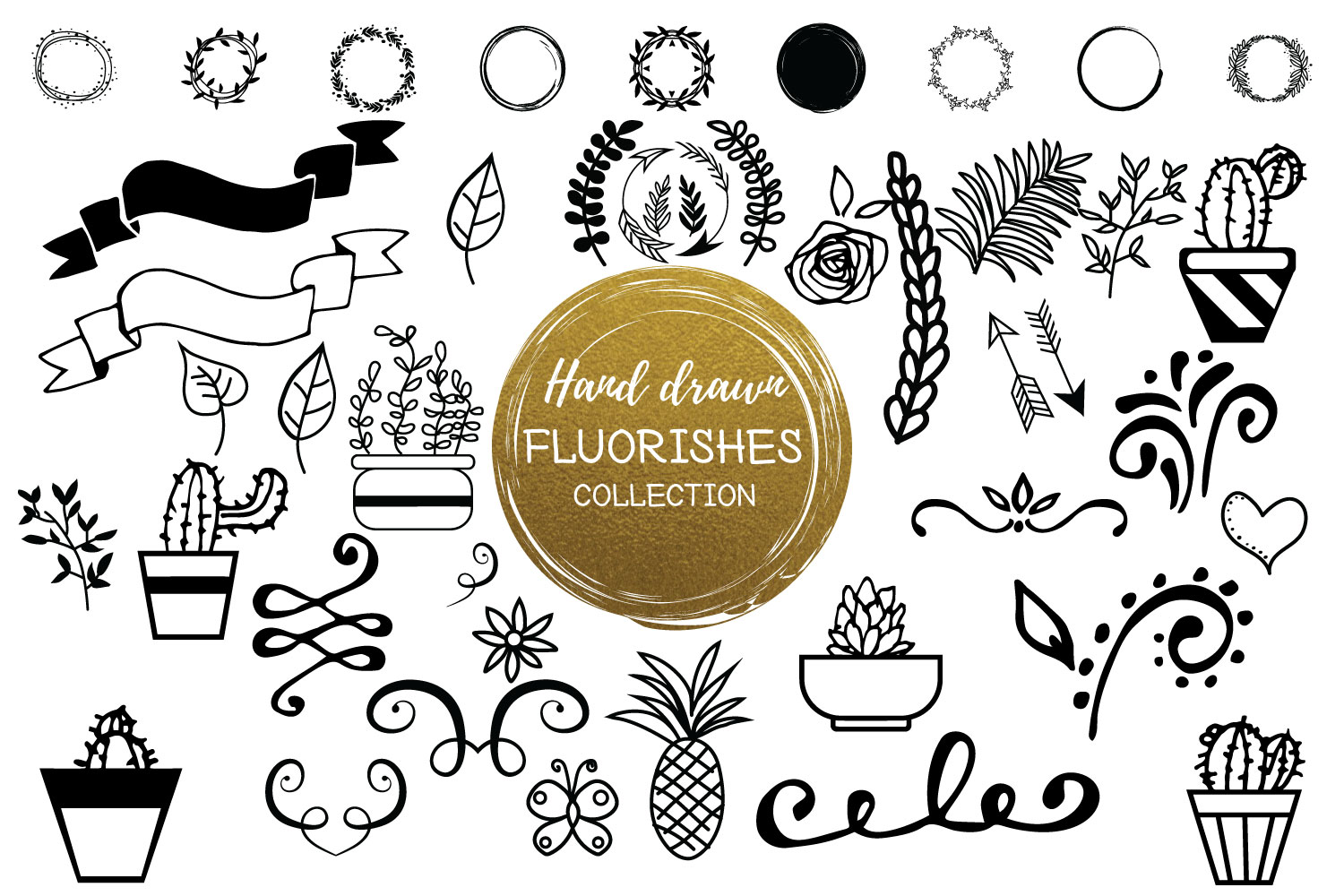 Print on Demand: Hand Drawn Flourishes Collection Graphic Illustrations By Sintegra