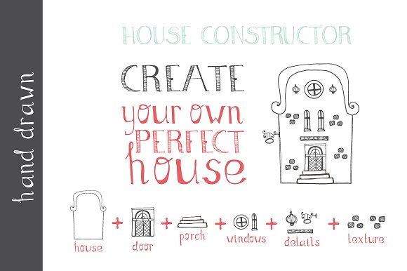 Hand Drawn House Elements Graphic Illustrations By Favete Art - Image 2