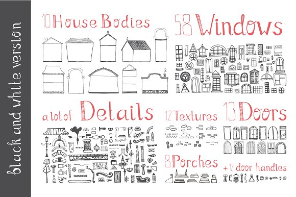 Hand Drawn House Elements Graphic Illustrations By Favete Art - Image 3
