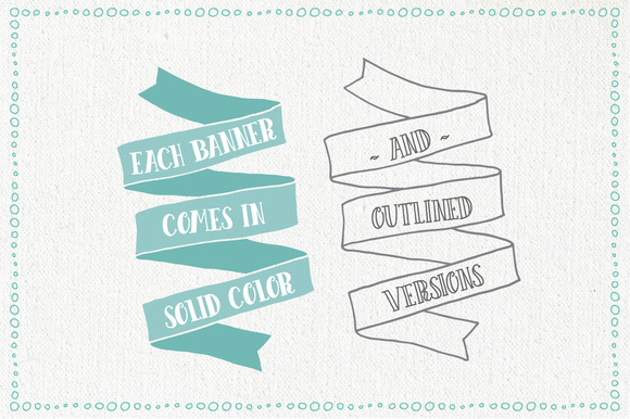 Hand Drawn Banner and Ribbons Bundle Graphic Objects By The Pen and Brush - Image 2