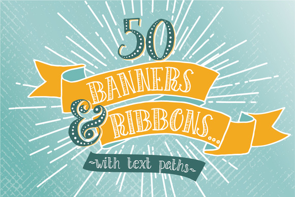 Hand Drawn Banner and Ribbons Bundle Graphic Objects By The Pen and Brush