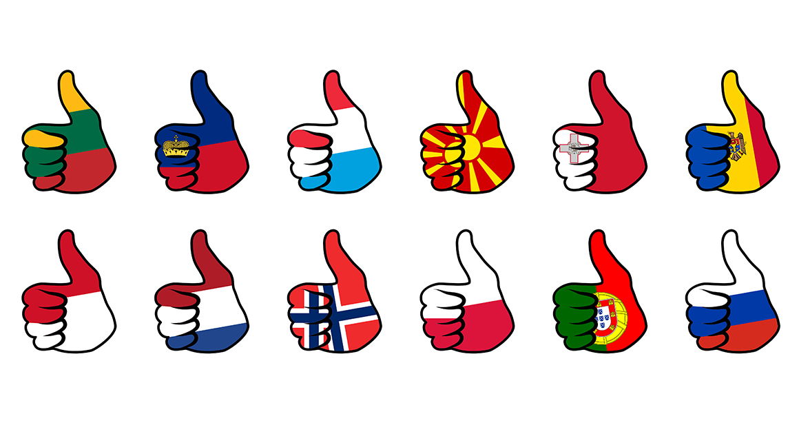 Print on Demand: Hand Flag Collection Graphic Icons By NREY - Image 13