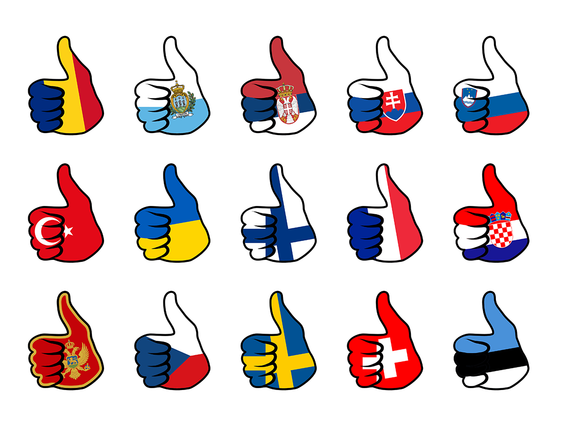 Print on Demand: Hand Flag Collection Graphic Icons By NREY - Image 14