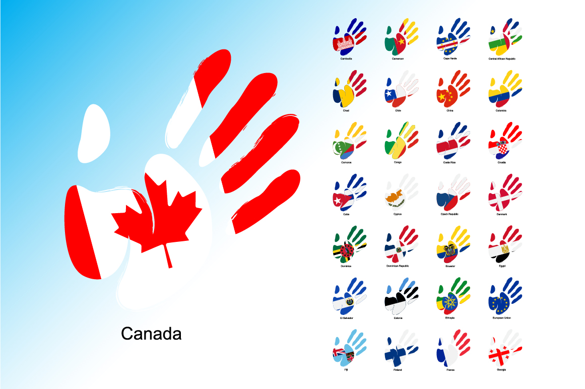 Print on Demand: Hand Flag Collection Graphic Icons By NREY - Image 5