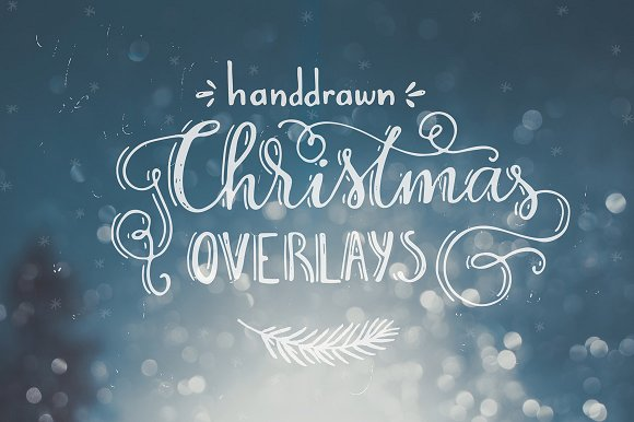 Handdrawn Christmas Photo Overlays Graphic Illustrations By Favete Art