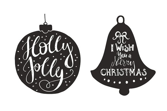 Handdrawn Christmas Quotes in Shapes Graphic Illustrations By Favete Art - Image 3