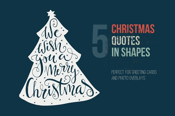 Handdrawn Christmas Quotes In Shapes Graphic By Favete Art
