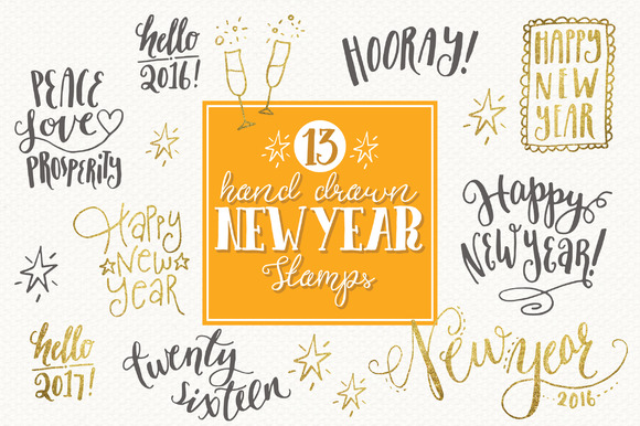 Download Free Happy New Year Overlays Graphic By The Pen And Brush Creative for Cricut Explore, Silhouette and other cutting machines.