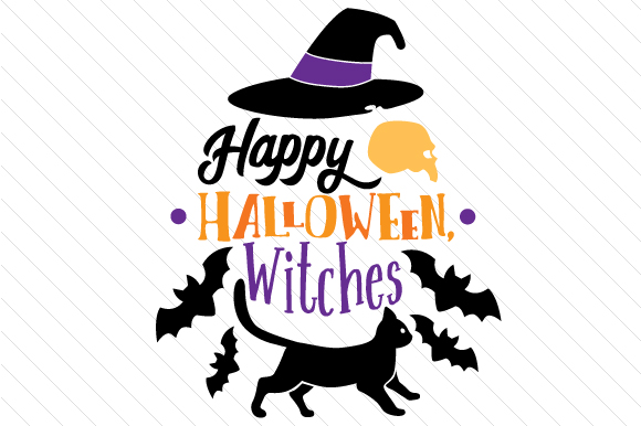 Happy Halloween Witches Halloween Craft Cut File By Creative Fabrica Crafts - Image 1