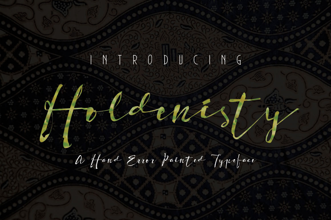 Print on Demand: Holdenisty Script & Handwritten Font By beeart009 - Image 1