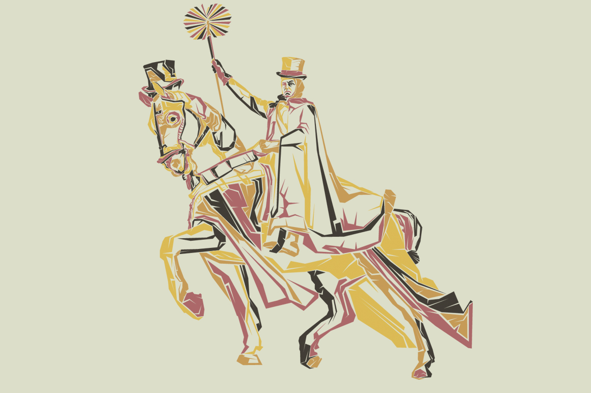 Print on Demand: Horseman Graphic Illustrations By Gblack Id