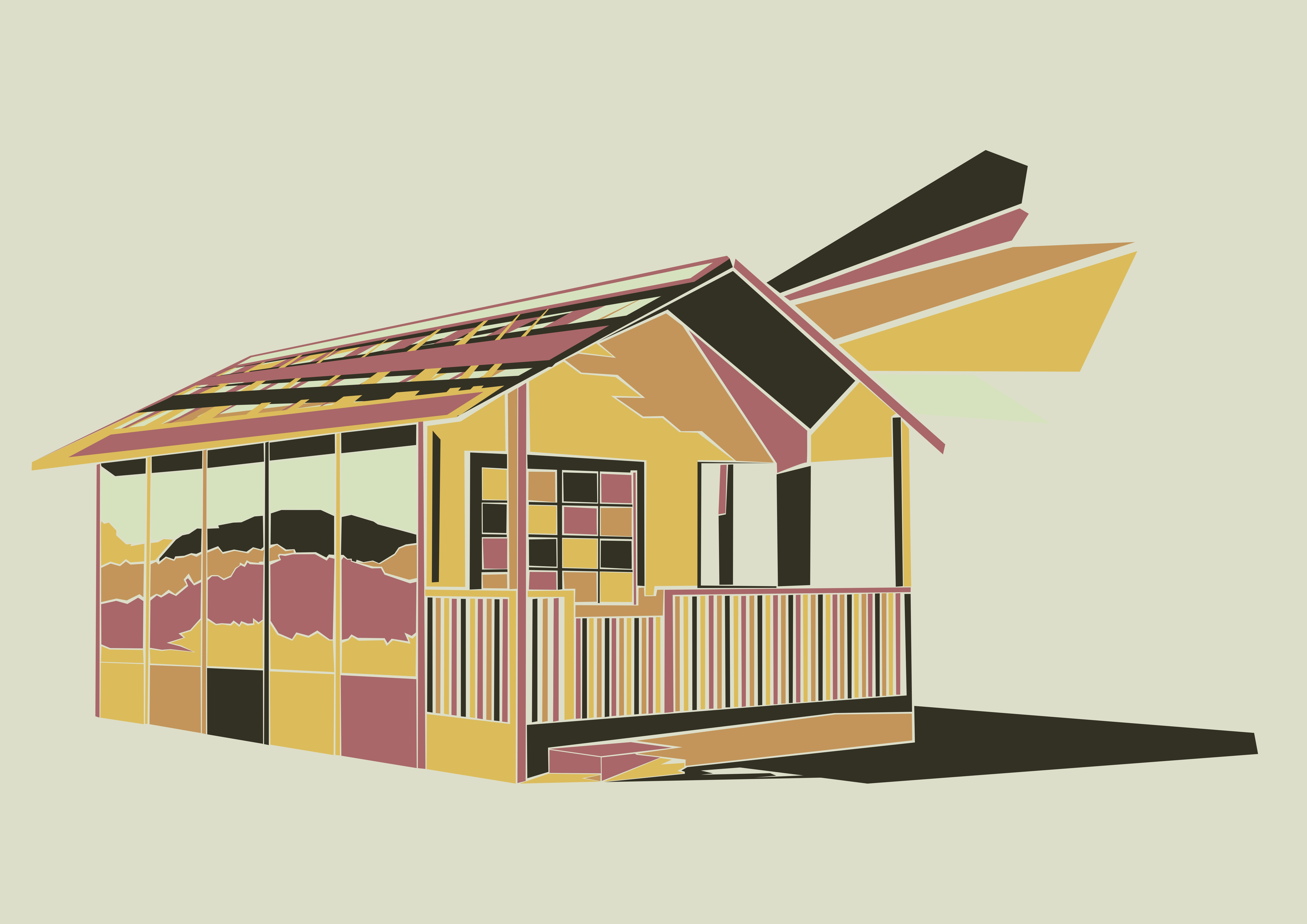 Print on Demand: House Illustration Graphic Illustrations By Gblack Id