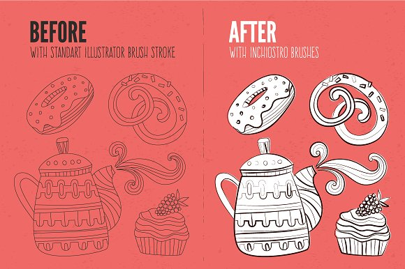 Inchiostro Illustrator Brush Pack Graphic Brushes By Favete Art - Image 2