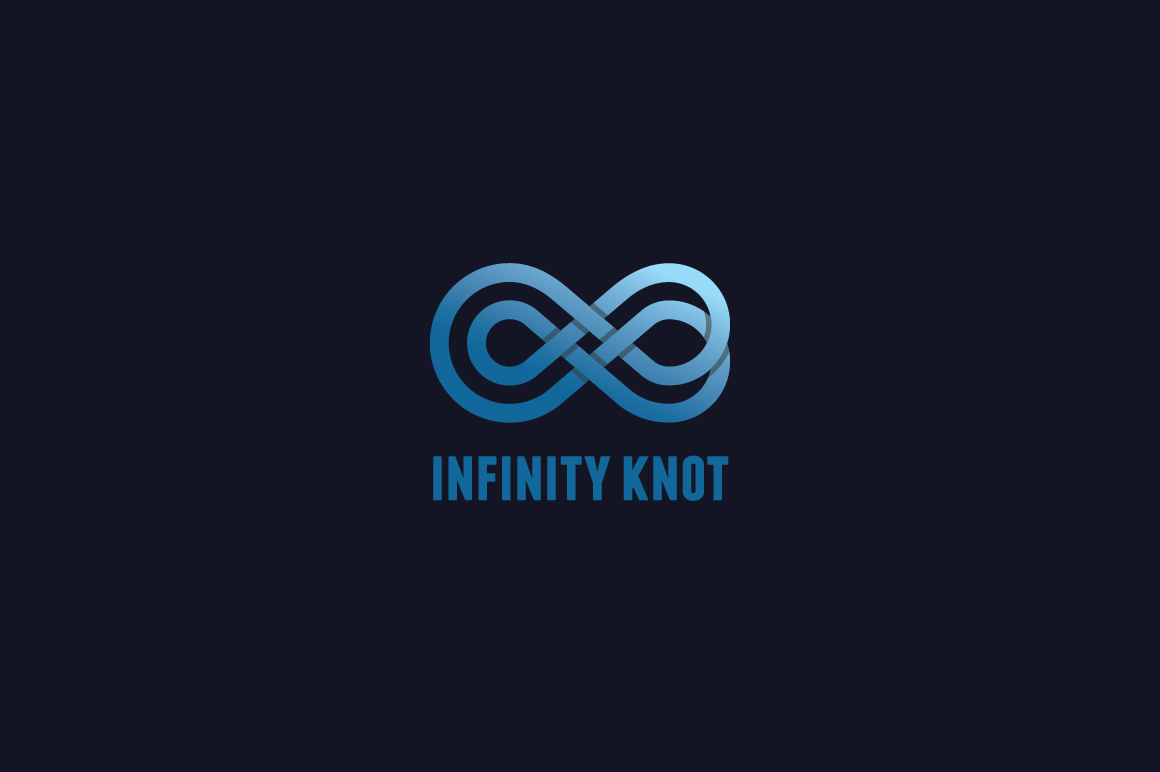 Download Free Infinity Knot Logo Template Graphic By Kreasimalam Creative for Cricut Explore, Silhouette and other cutting machines.