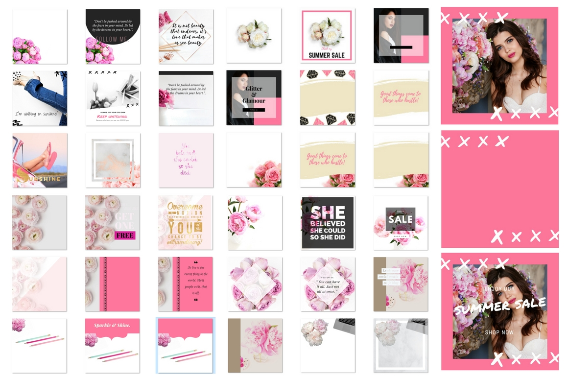 Instagram Pack Pink Graphic Graphic Templates By Creative Stash - Image 2