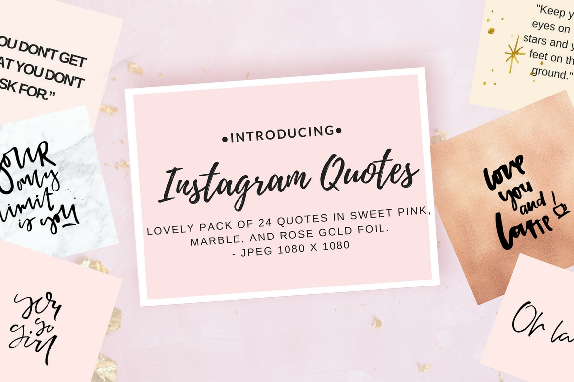 Instagram Quotes Pack Gráfico Plantillas Gráficas Por Creative Stash