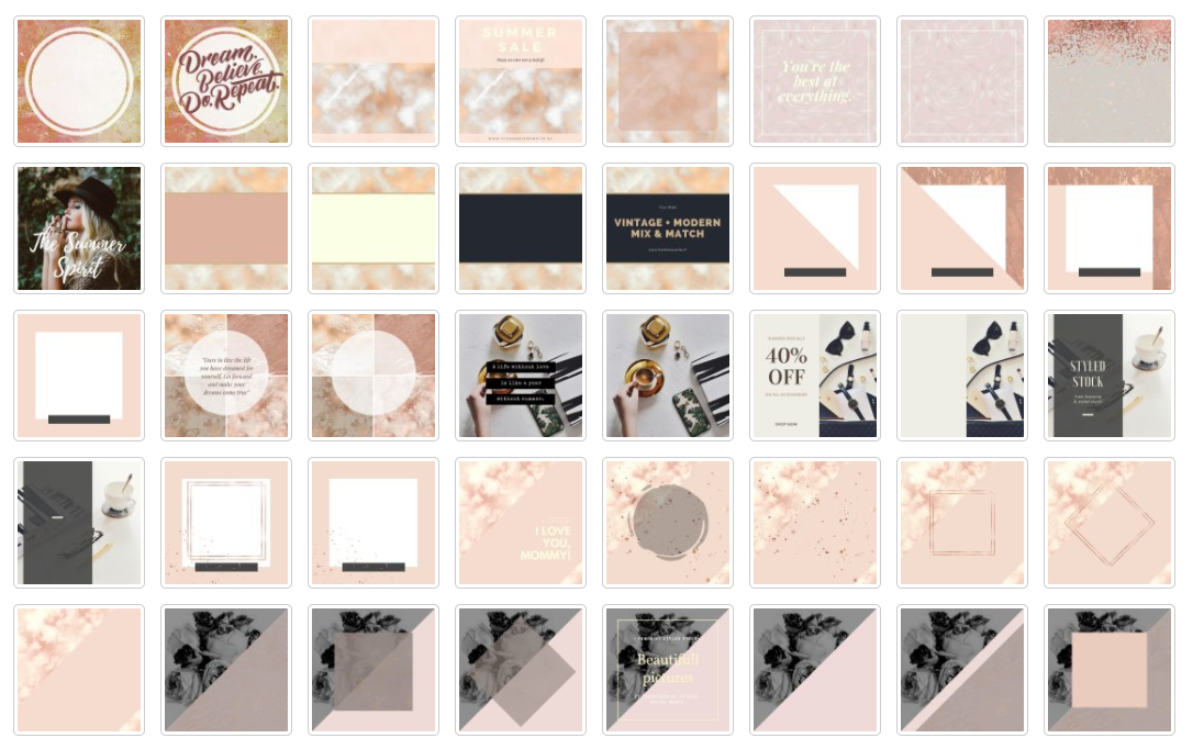 Instagram Templates - Rose Gold Graphic By Creative Stash Image 2