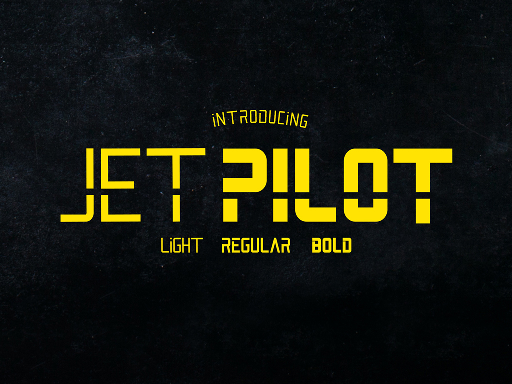 Print on Demand: Jet Pilot Sans Serif Font By madeDeduk