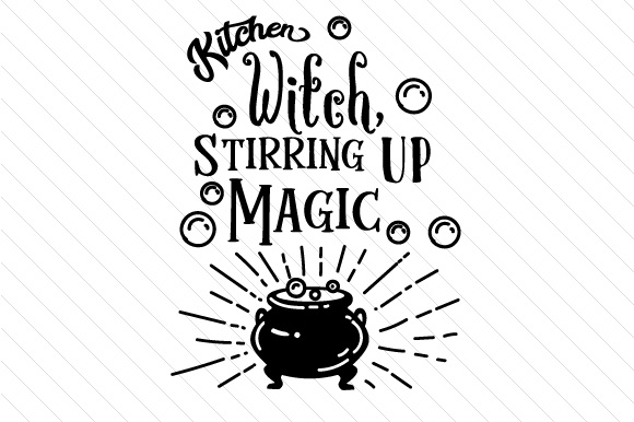Kitchen witch stirring up magic SVG Cut file by Creative Fabrica ...