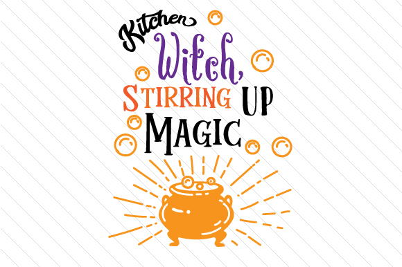 Kitchen Witch Stirring Up Magic Halloween Craft Cut File By Creative Fabrica Crafts