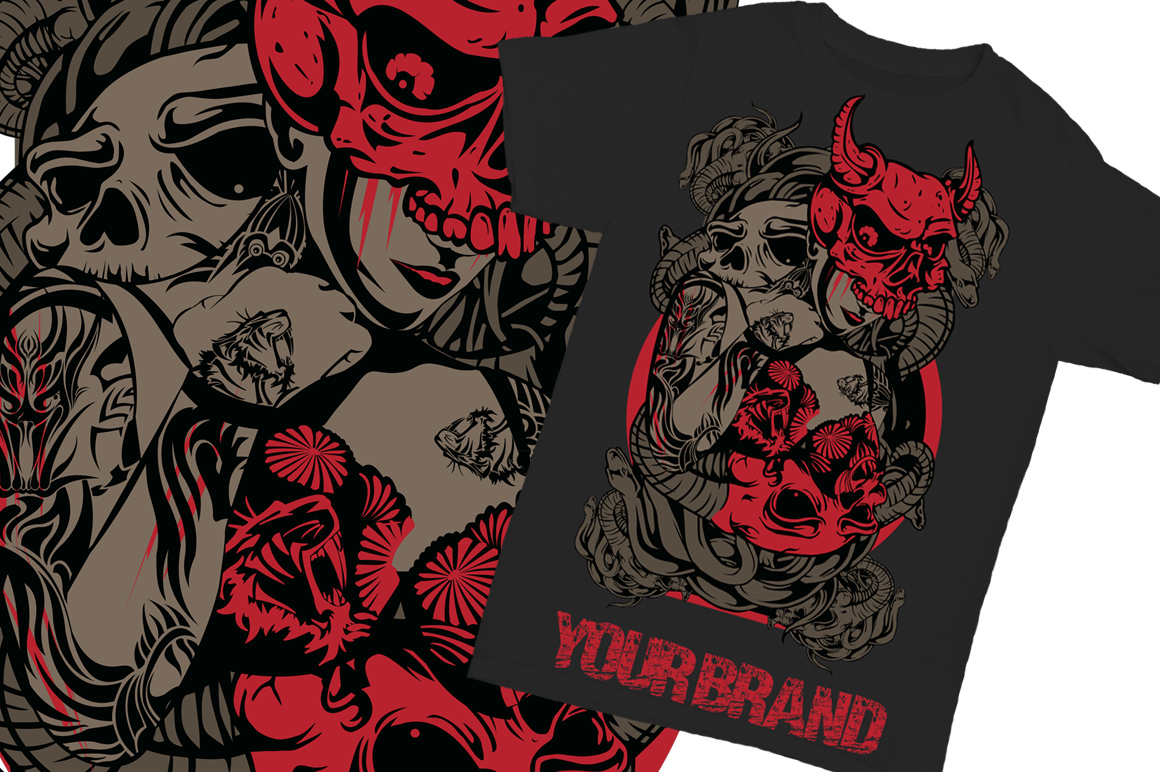 Print on Demand: Lady Skull Graphic Illustrations By Gblack Id