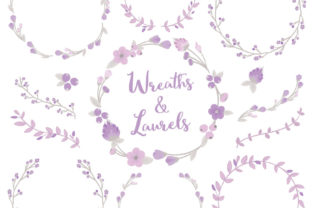 Lavender Floral Laurals and Wreaths Graphic By Amanda Ilkov