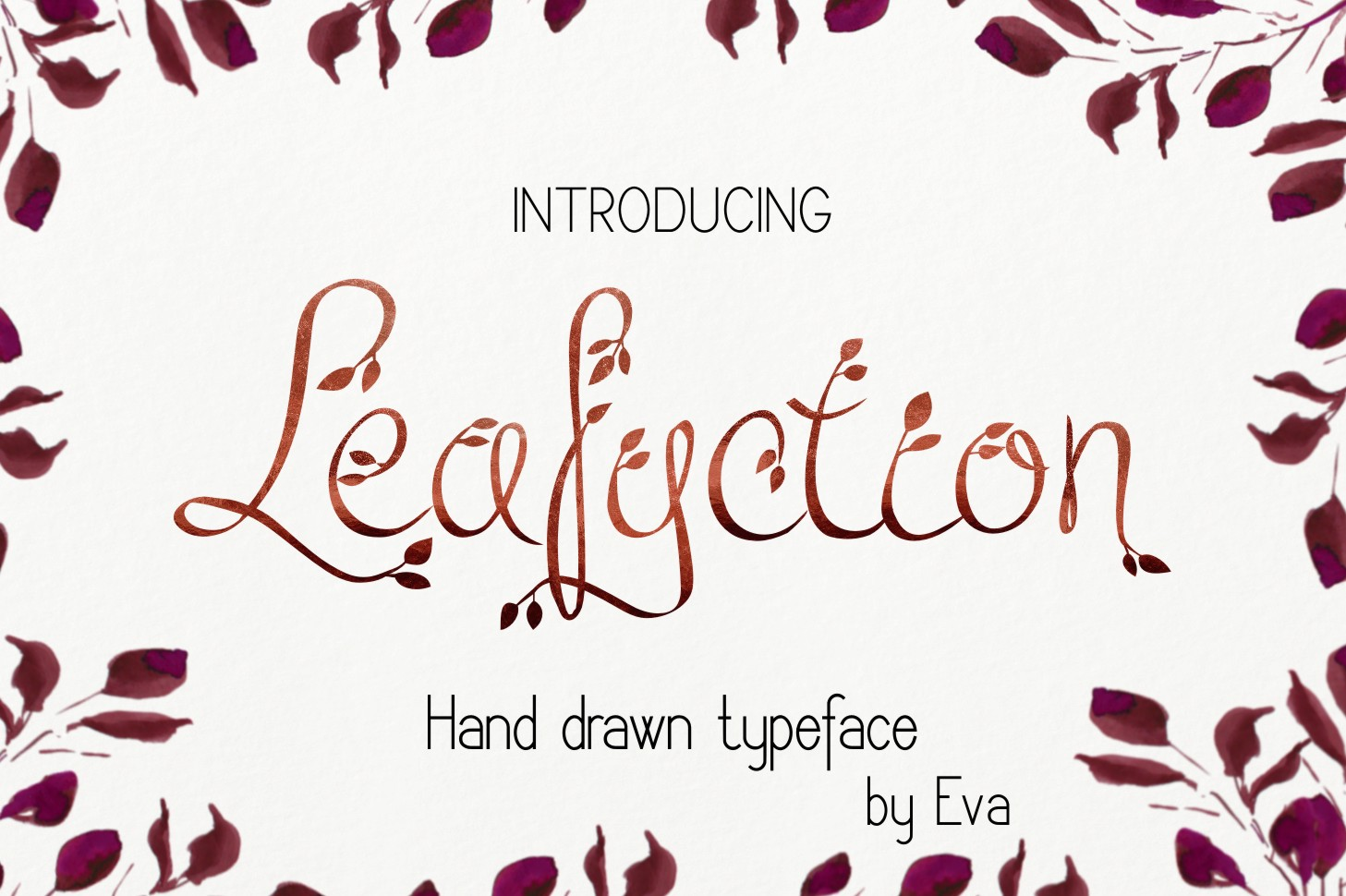 Print on Demand: Leafyction Decorative Font By Eva Barabasne Olasz
