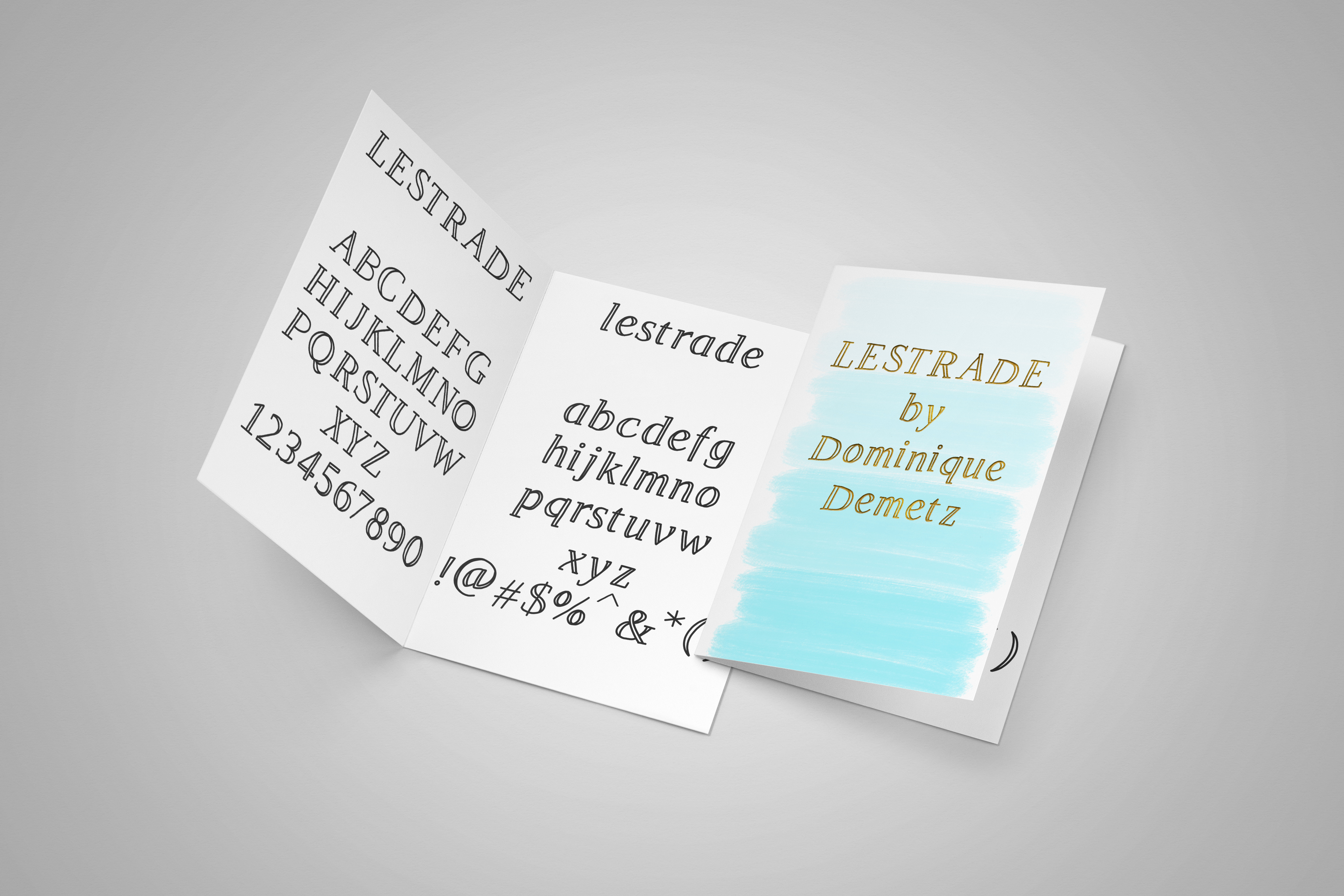Print on Demand: Lestrade Display Font By Dominique Demetz - Image 2