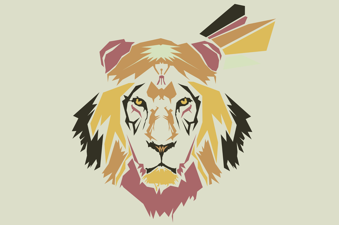 Print on Demand: Lion Pop Art Illustration Graphic Illustrations By Gblack Id