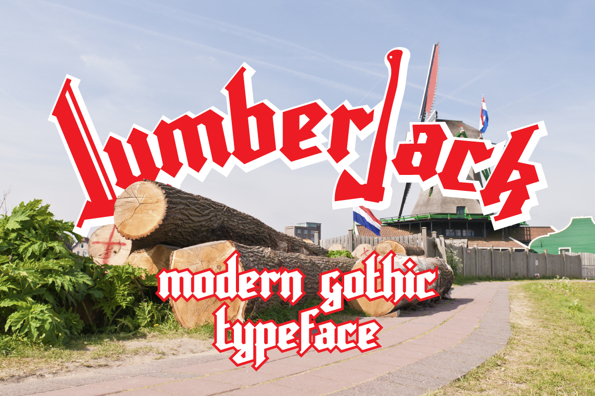 Print on Demand: Lumberjack Blackletter Font By NREY