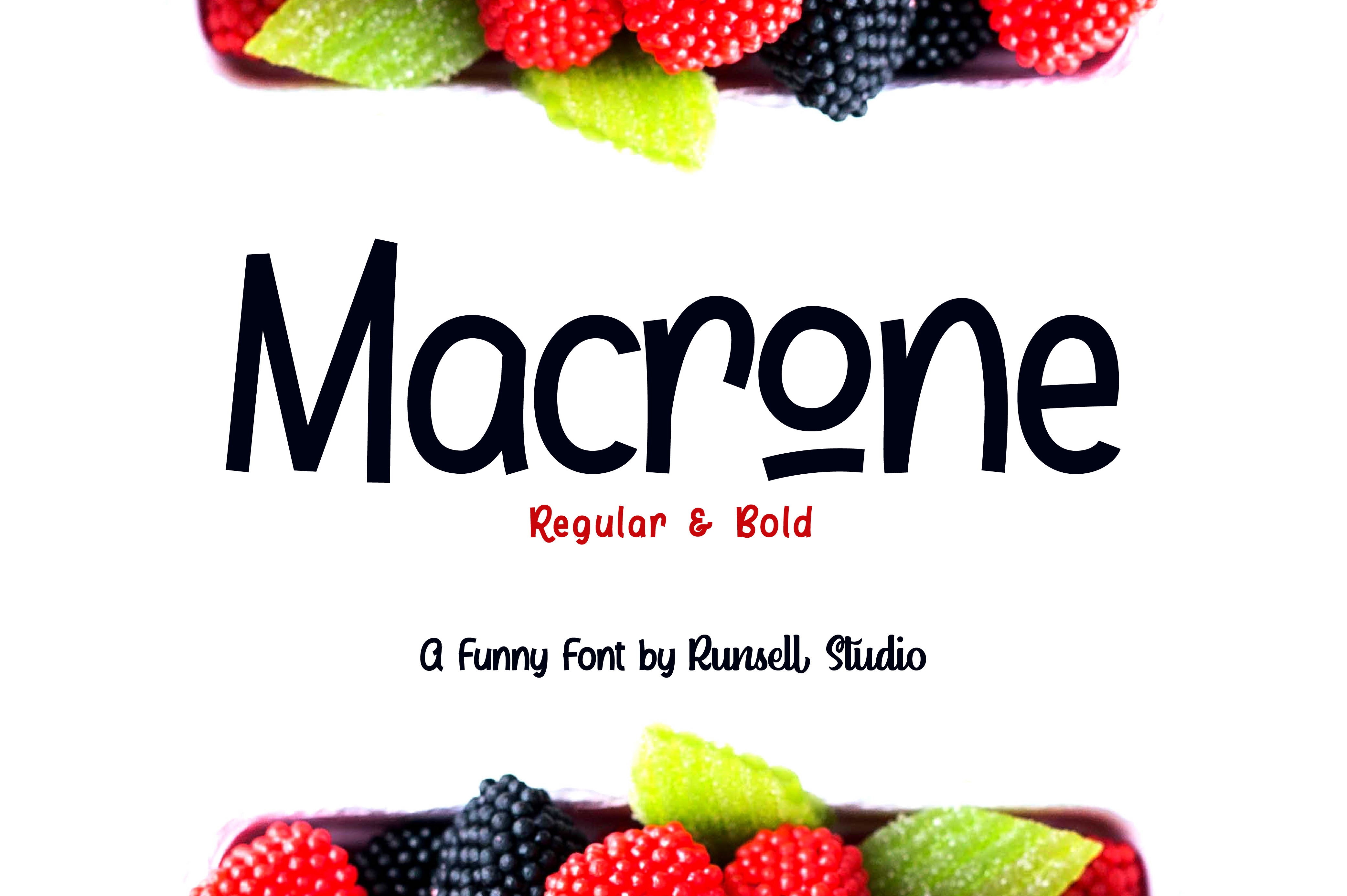 Macrone Display Font By Runsell Graphic