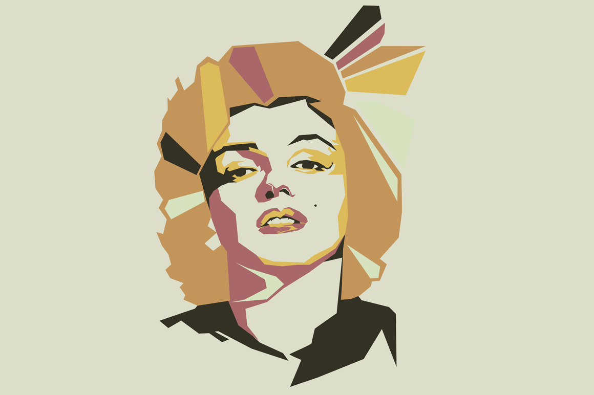 Print on Demand: Marlyn Monroe Pop Art Illustration Graphic Illustrations By Gblack Id