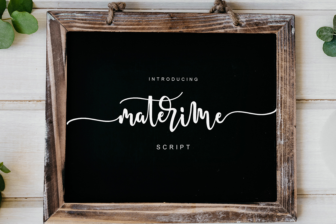 Print on Demand: Materime Script & Handwritten Font By missinklab