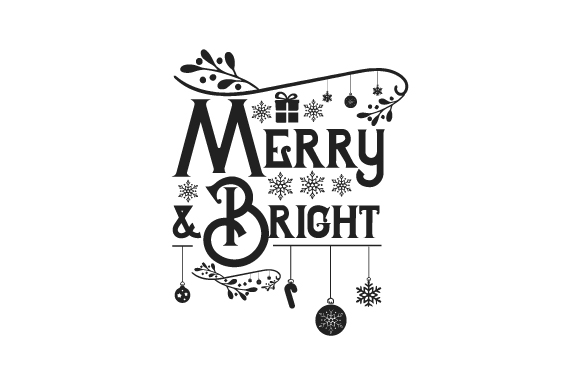 Download Free Merry Bright Svg Cut File By Creative Fabrica Crafts for Cricut Explore, Silhouette and other cutting machines.