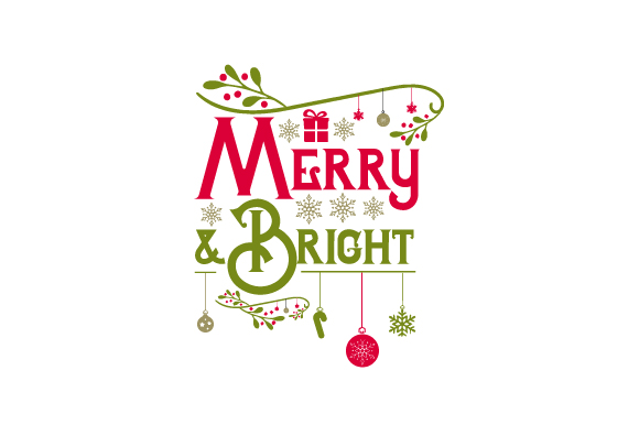 Merry & Bright Christmas Craft Cut File By Creative Fabrica Crafts