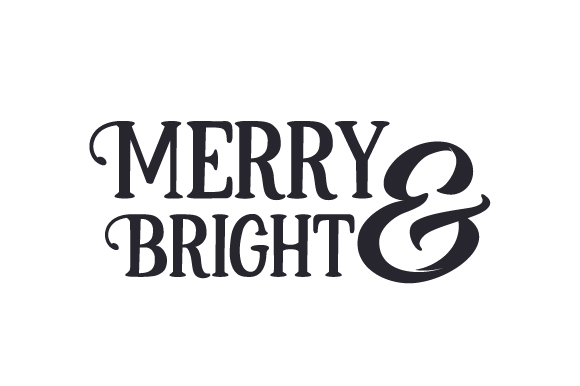 Download Free Merry And Bright Svg Cut File By Creative Fabrica Crafts for Cricut Explore, Silhouette and other cutting machines.