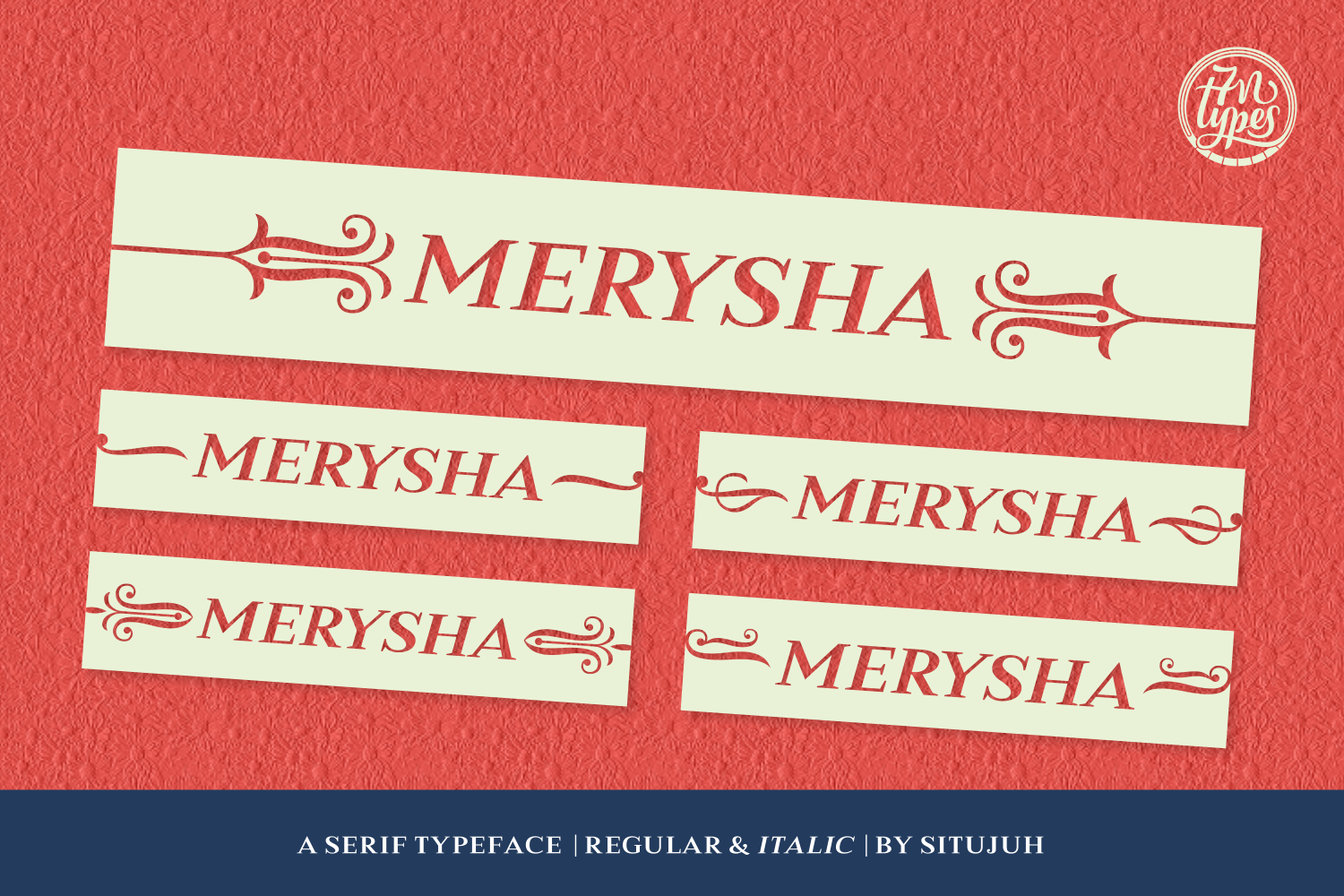 Print on Demand: Merysha Serif Font By Situjuh - Image 1