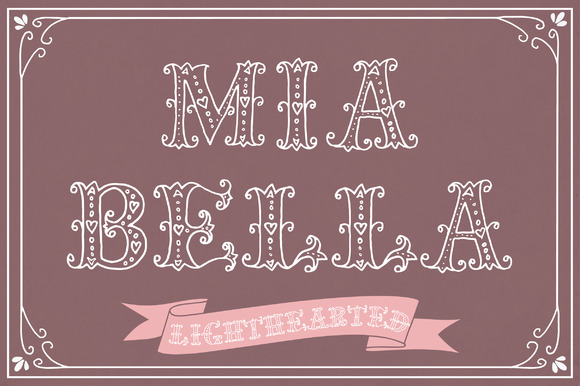 Print on Demand: Mia Bella Lighthearted Decorative Font By The Pen and Brush